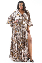 Plus Size Multi Color Maxi Dress 1X2X3X