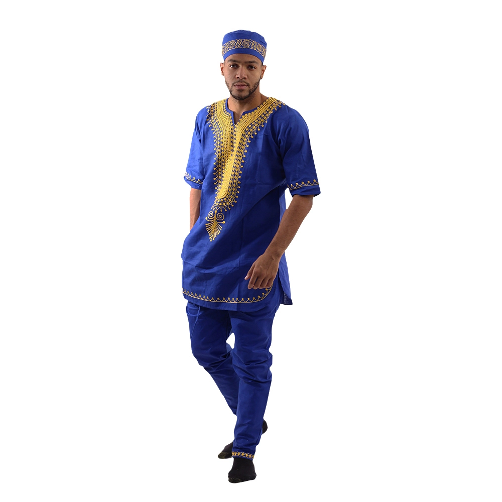 Men's Royal Embroidered Pant Set