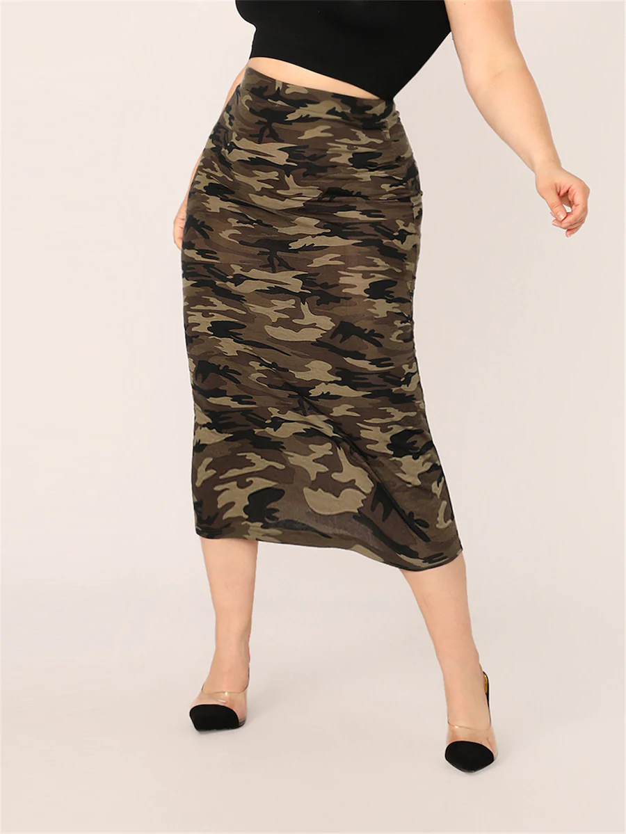 Women's Camo Bodycon Skirt - LSM Boutique's Fashion N Fragrances