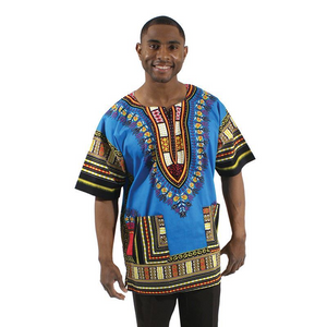Dashiki Nice Blue...stand-out design - LSM Boutique's Fashion N Fragrances