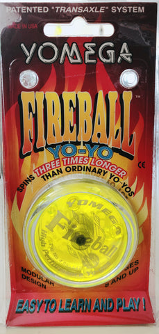 "Yomega Fireball (Stock) ""Clear/ Yellow Cap"""