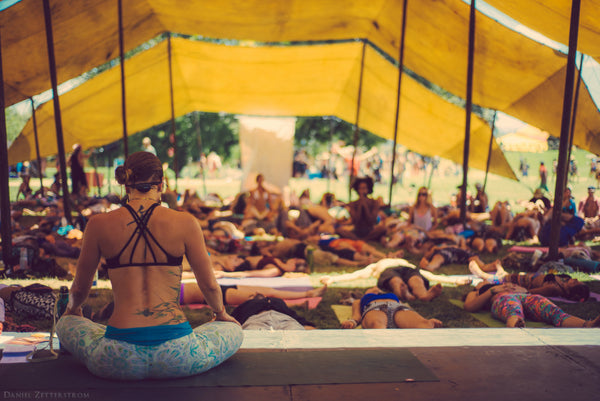 Yoga at Lightning in a Bottle music festival