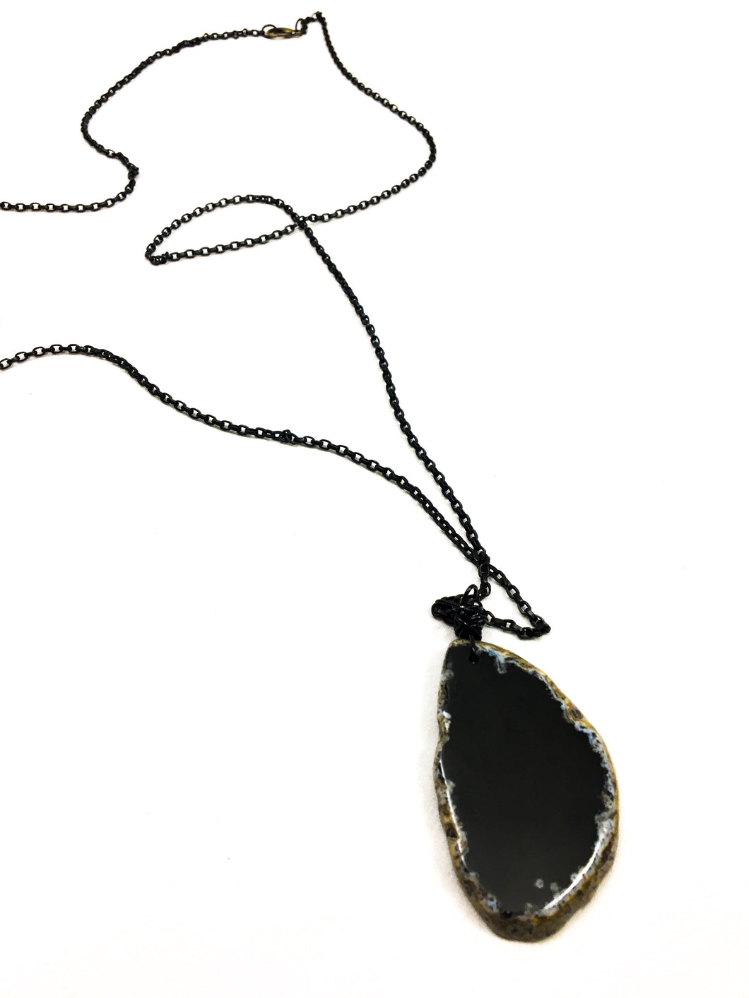Small Black Onyx Necklace