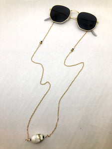 Sunglass chain and gold hipster unisex sunglasses for festivals