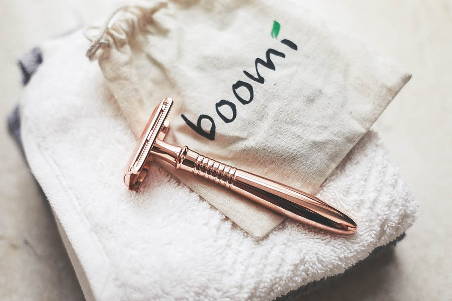 Boomi Rose Gold Safety Razors *Refills Available*