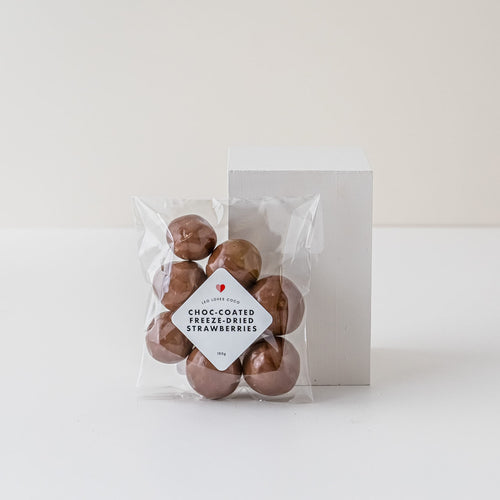 Chocolate Coated Freeze Dried Strawberries, Gift, Present