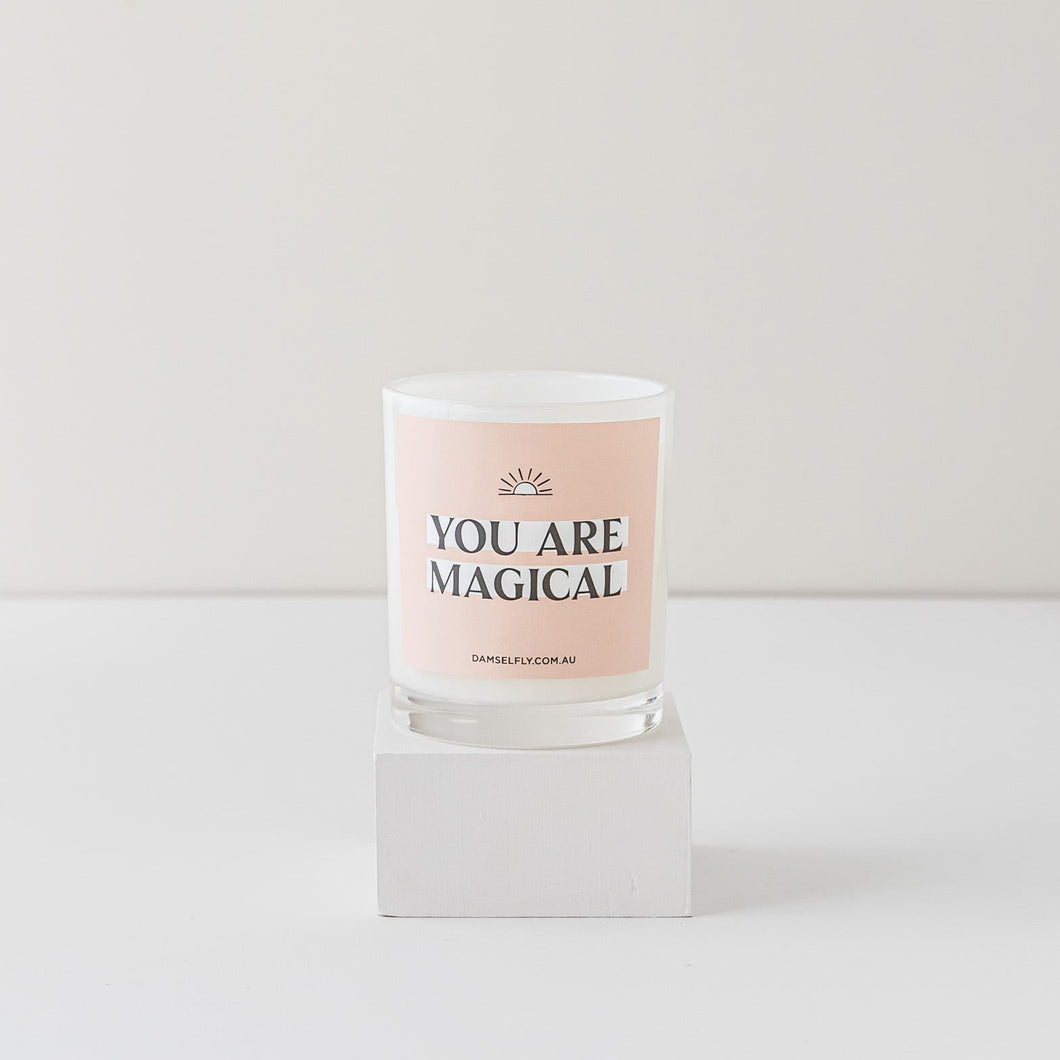 Damselfly You Are Magical Candle | Leo loves Coco