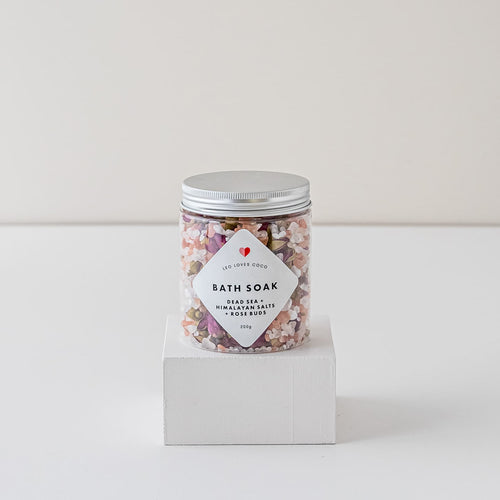 Dead Sea + Himalayan Rock Salts + Rose Buds Bath Soak