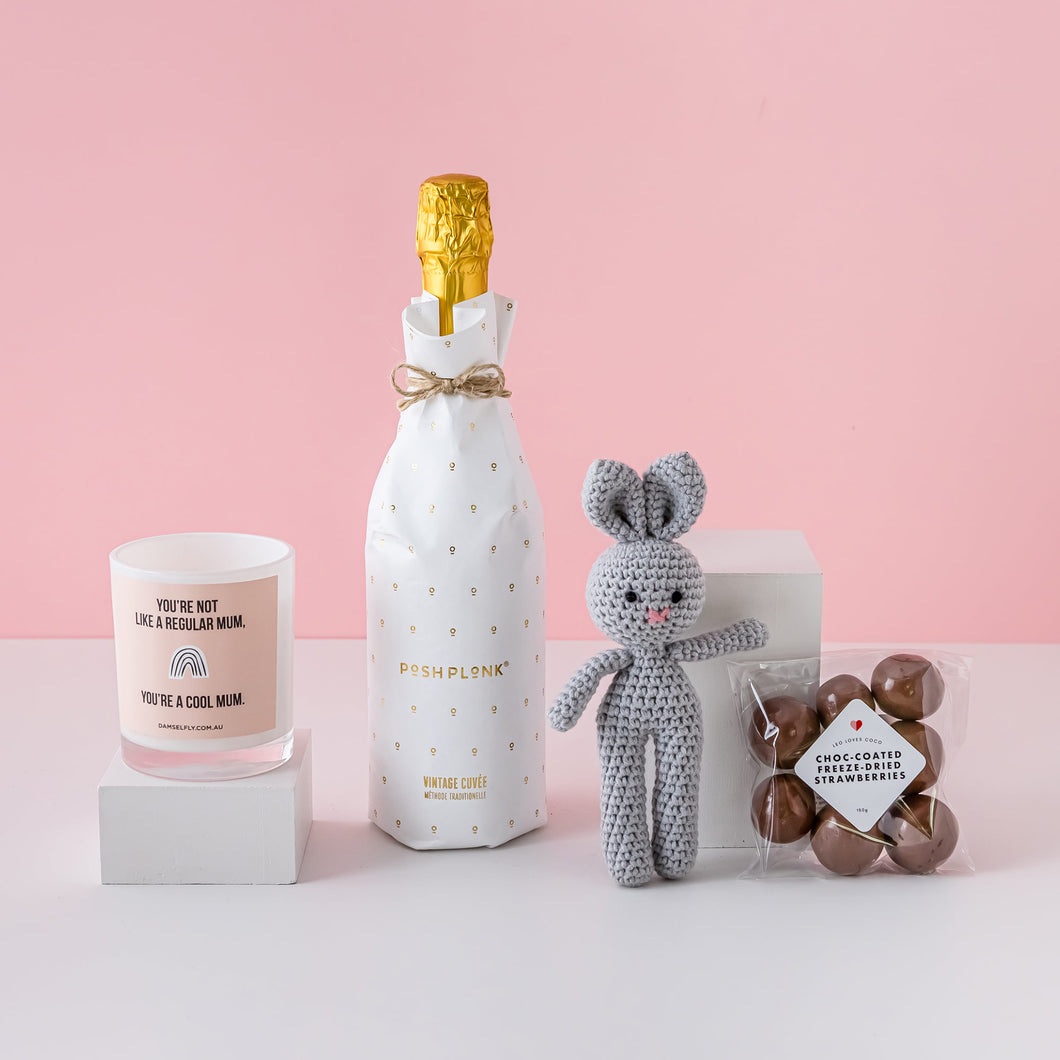 My First Champagne Gift Hamper, Baby Gift Delivery, Baby Shower Present