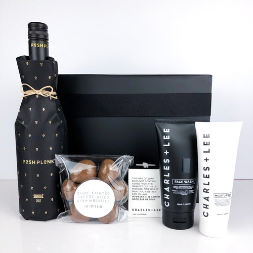luxury gift basket, men's hamper, gift basket for him, gift hamper, leo loves coco