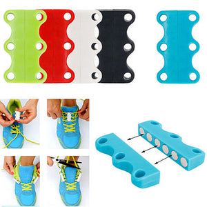 Magnetic Shoe Lace Closure Buckle System