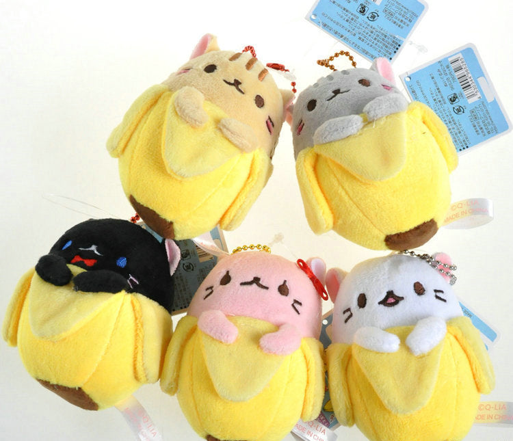 Bananya Cat in Banana Mini Plush Doll - Available in 5 Different Variant