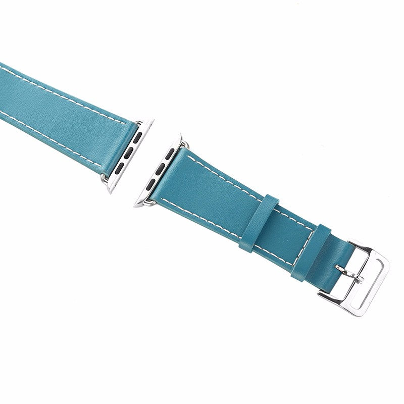 Extra Long Genuine Leather, Double Tour Bracelet Style band for Apple Watch - 38mm or 42mm