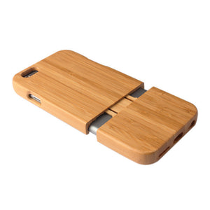 Handmade Bamboo Wooden Hard Slider Case For iPhone 5 5S SE 6 6S 6 Plus 7 7 Plus 6S Plus