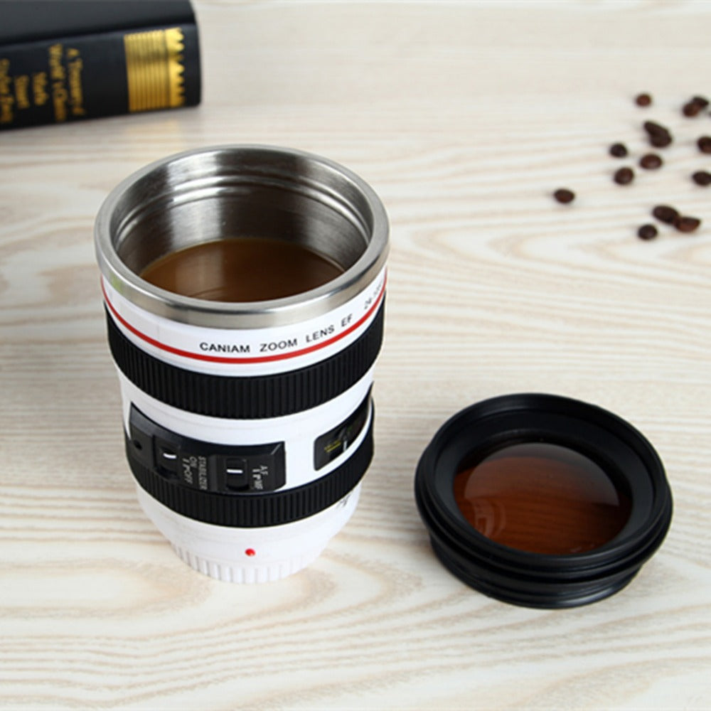 SLR Camera Lens Replica Coffee Mug