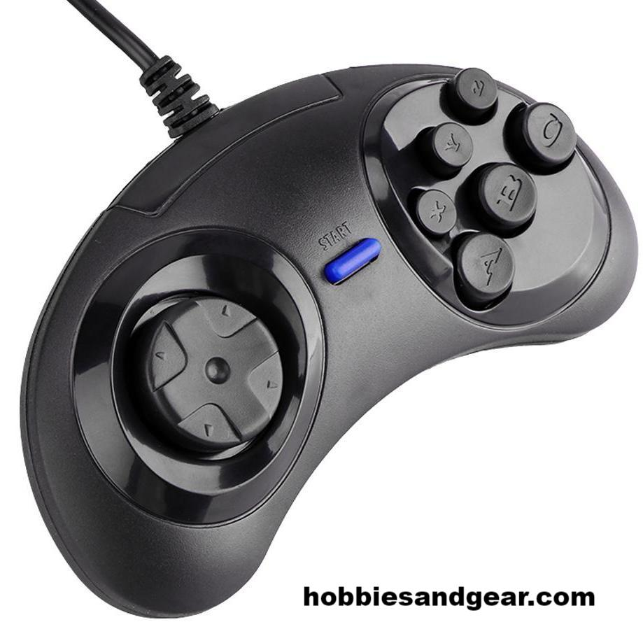 Retro Classic Sega Genesis / MegaDrive Styled USB Gamepad Controller for Windows and Mac