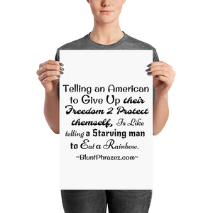 Telling An American To Give Up