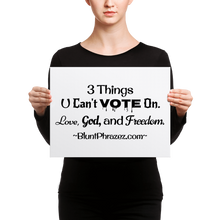 3 Things U Can't Vote On