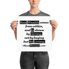 Real Wealth Comes