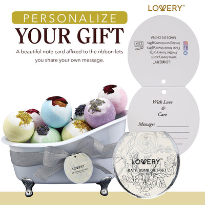 Bath Bombs Bath and Body Spa Gift Set in a Tub - Lovery