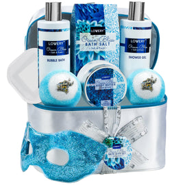 Ocean Bliss Spa Bath and Body Gift Set with Cosmetic Bag - Lovery