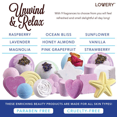 Bath Bomb Spa Gift Set includes six unique fragrances