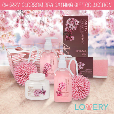 Cherry Blossom Spa Bath & Body Gift Set - Lovery
