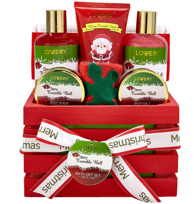 Christmas Spa Gift Set in Cherry Twinkle Bell - Lovery