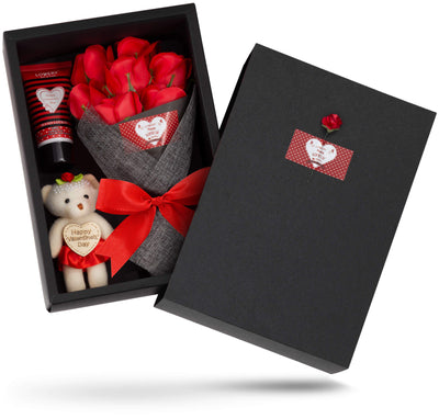Valentine Gift Set in Red Rose Jasmine Fragrance