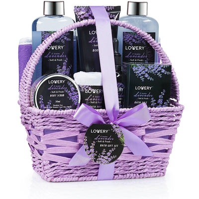 Lavender & Jasmine Deluxe Spa Bath & Body Gift Set - Lovery