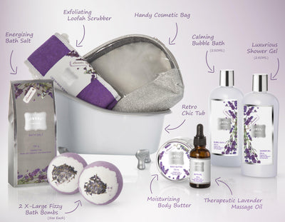 Lavender Deluxe Spa Bath and Body Set in a Tub - Lovery