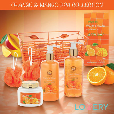 Orange and Mango Spa Bath and Body Set - Lovery