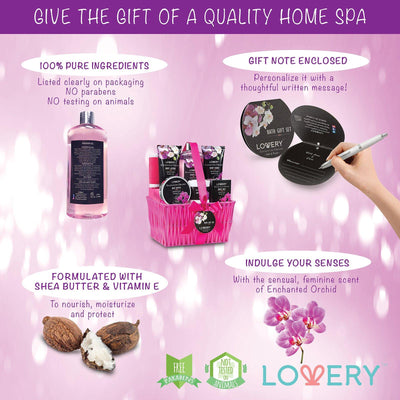 Enchanted Orchid Spa Bath & Body Gift Set - Lovery