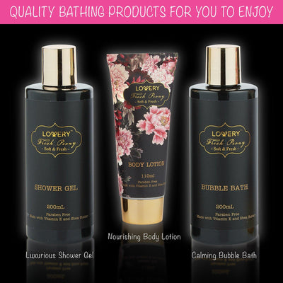 Fresh Peony Spa Bath & Body Gift Set - Lovery