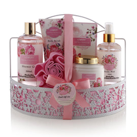 Wild Rose & Raspberry Leaf Spa Bath & Body Gift Set - Lovery
