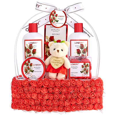 Rose Scented Home Spa and Body Rose Gift Set