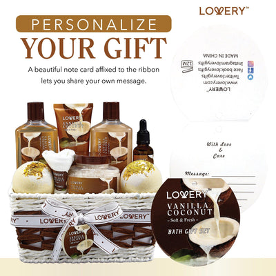 Vanilla Coconut Deluxe Spa Bath and Body Set - Lovery