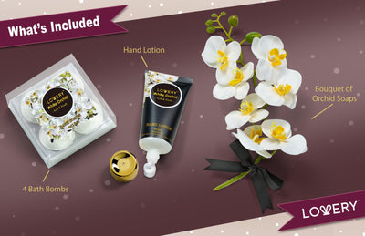 Orchid Petals Spa Gift Set in White Orchid Fragrance Soaps 2021