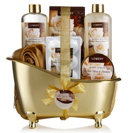 White Rose & Jasmin Vintage Spa Bath & Body Gift Set - Lovery