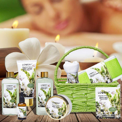 Magnolia and Tuberose Spa Bath and Body Set - Lovery