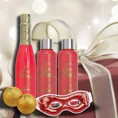 Christmas Spa Bath and Body Set in Red Rose and Jasmine Fragrance - Lovery