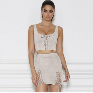 Sleeveless Lace Up