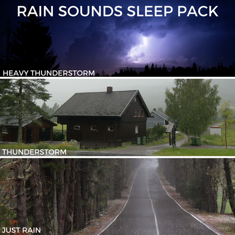 Rain Sounds Sleep and Relaxation MP3 Sleep Pack