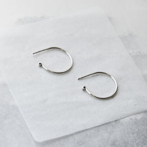 AMPERSAND HOOP EARRINGS