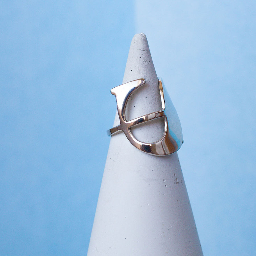 Dollar Sign Ring - Made to order