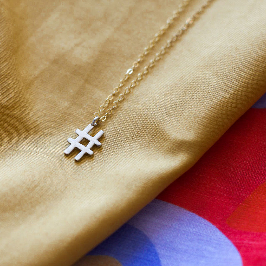 Hashtag necklace - Ready to ship