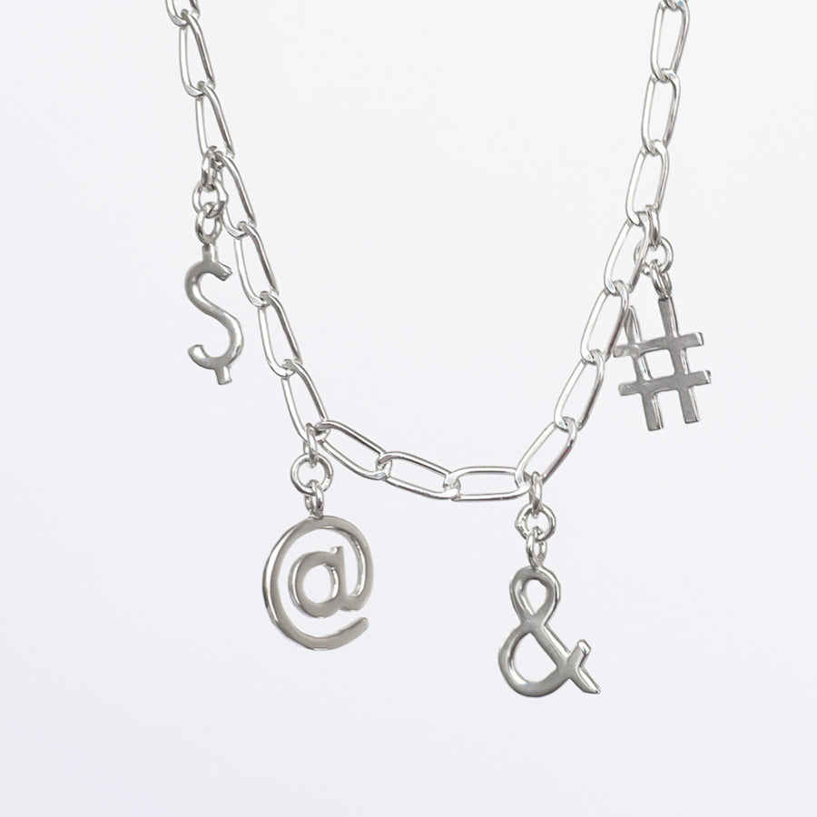 Keyboard Symbols Necklace - Made to order