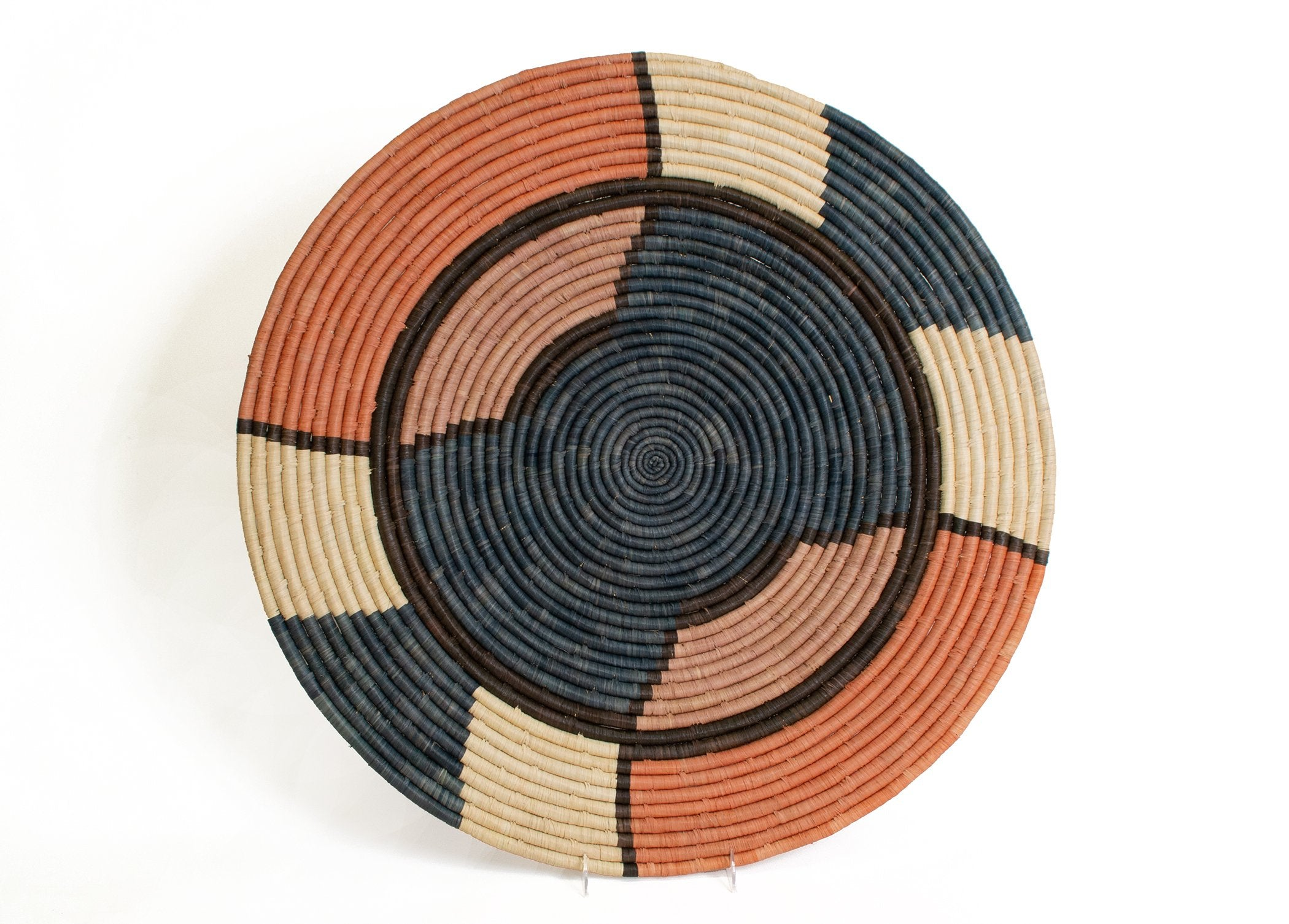 "27"" Extra Large Tabia Peach Woven Wall Art Plate"