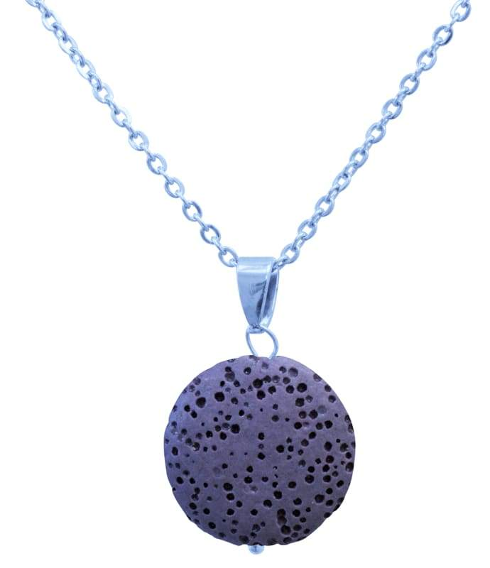 Purple Lava Stone Essential Oil Necklace