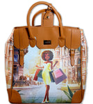 Milan Rolling Leather Tote